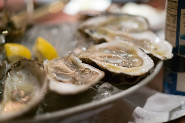 Oysters delivered from bay to table.  Freshest. Oysters. Ever.