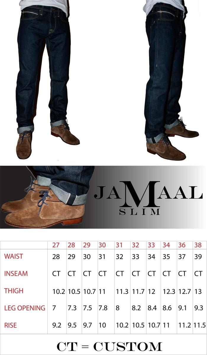 JAMAAL Slim Selvage Jean