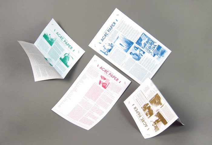 Newspapers that Dana Bassett created for the Miami Art Fair in collaboration with ACRE