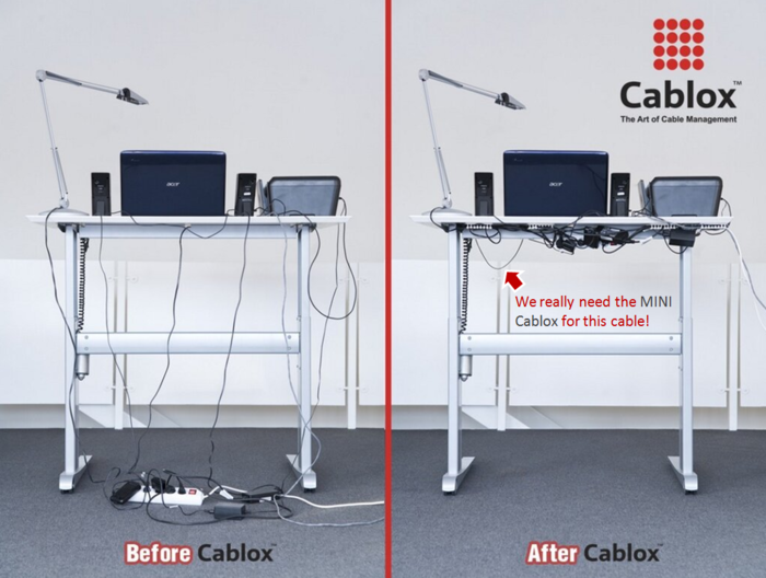 Cablox - before and after