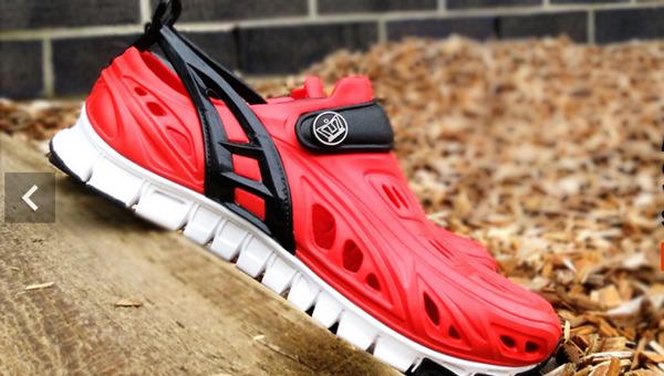 shoe in mulch