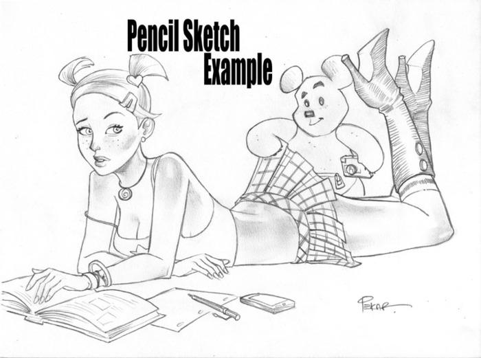 """Pencil sketch 9""""x12"""""""
