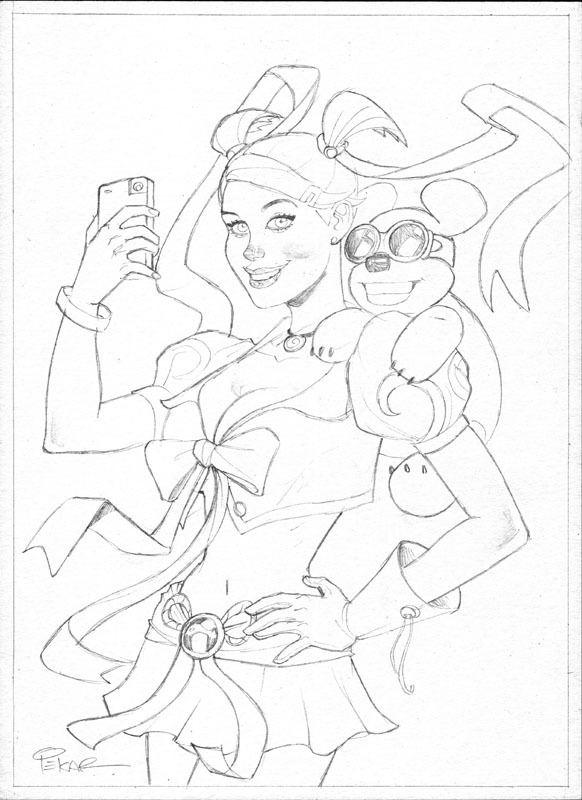 "COVER B - Work In Progress (pencils) for the Kickstarter cover. 11""x15"" To be painted."