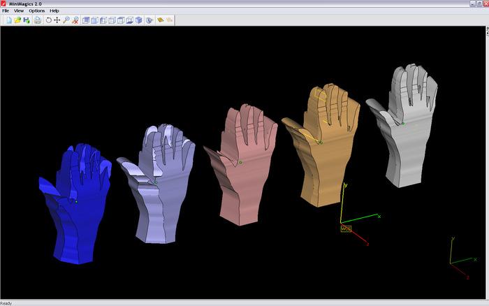 The five 3D models