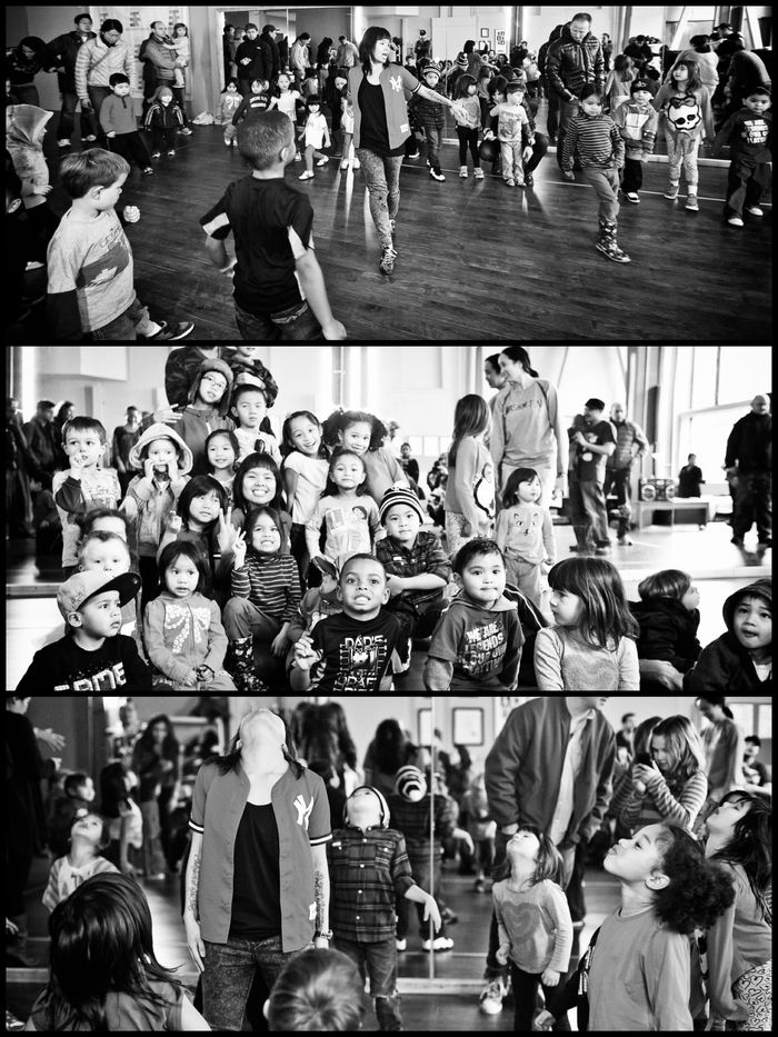 "Fides ""Anna Banana"" Mabanta w/ her ""Mini Breaks"" toddler class"
