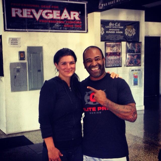 Working w/ Gina Carano at the Kings MMA gym