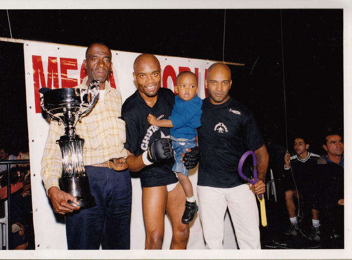 Cordeiro with UFC champion, Anderson Silva