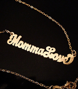 Momma Love gold necklace