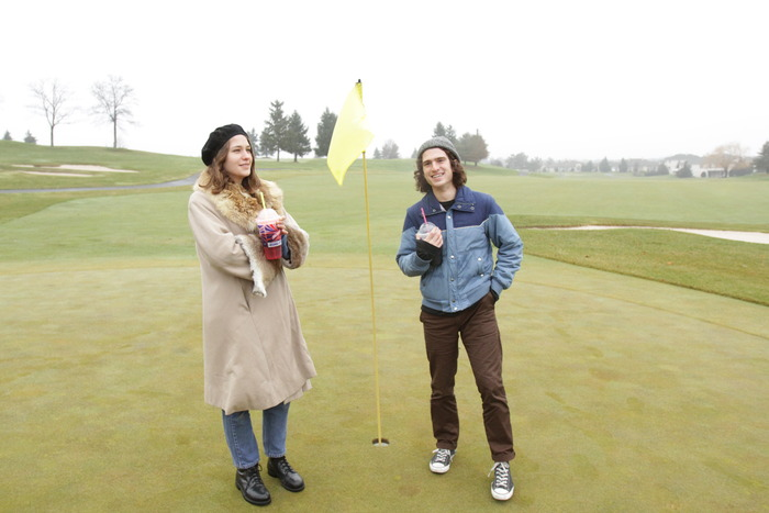 Lily and Malcolm on Lake City's golf course