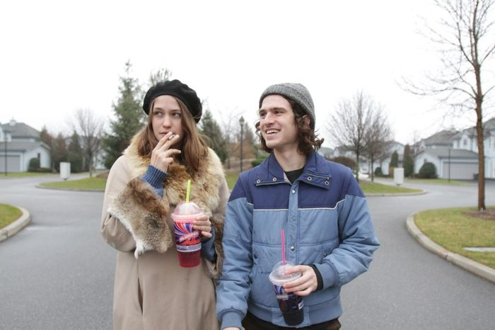 Lily and Malcolm enjoy cigarettes and Slush Puppies