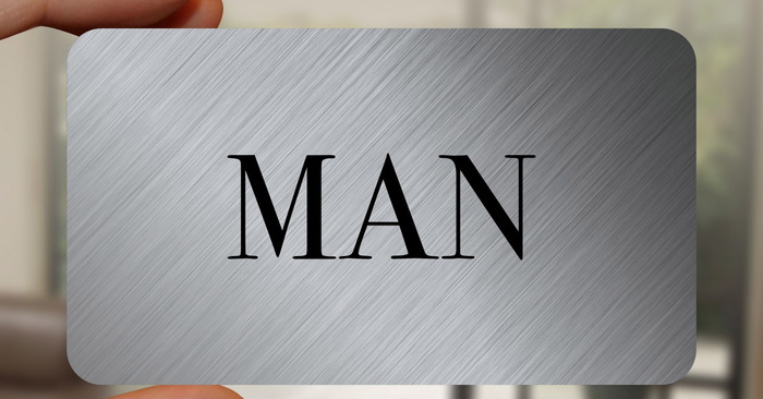 The GENTLEMAN card