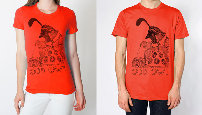 Limited Space Quail Tee (art by Trillian Spencer)
