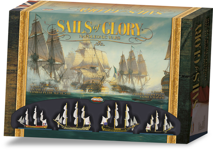 Digital mock-up of the the Sails of Glory Starter Set.