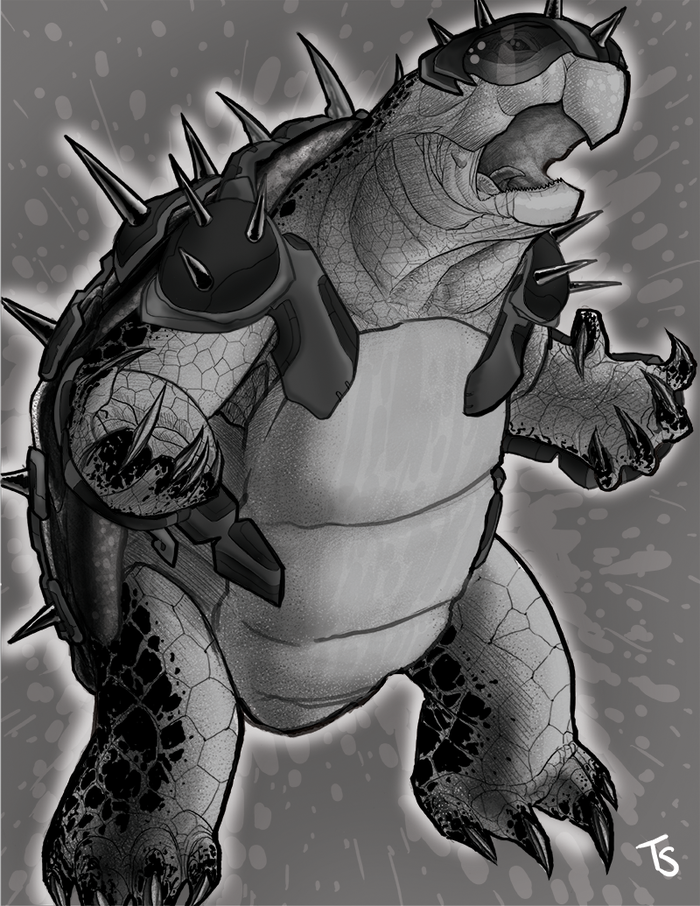 Turtle Warrior Concept with Armor