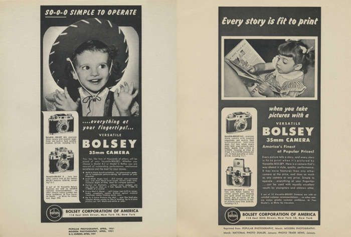 The little girl in this ad is Jacques Bolsey's daughter, Carole Bolsey. She will be interviewed in the documentary.