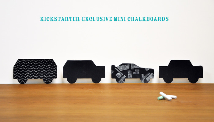 Kickstarter-exclusive mini chalkboards