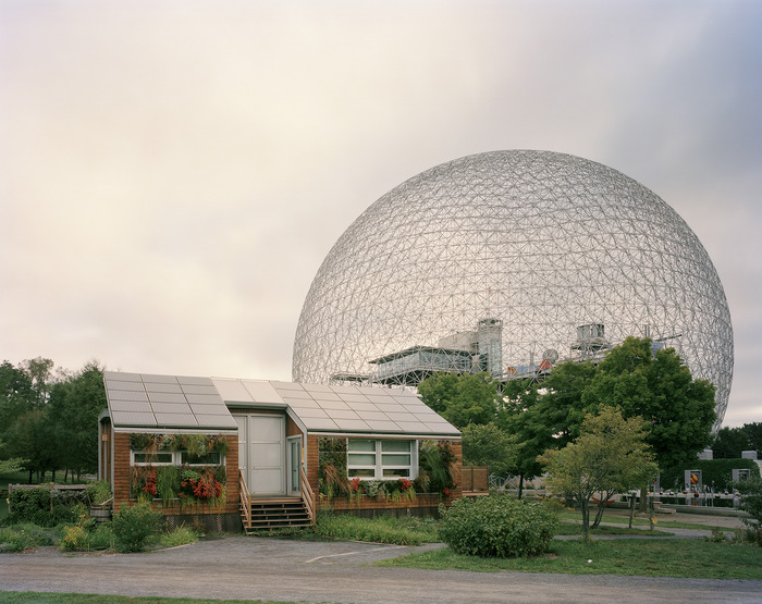"Montreal 1967 World's Fair, ""Man and His World,"" Buckminster Fuller's Geodesic Dome With Solar Experimental House, 2012"