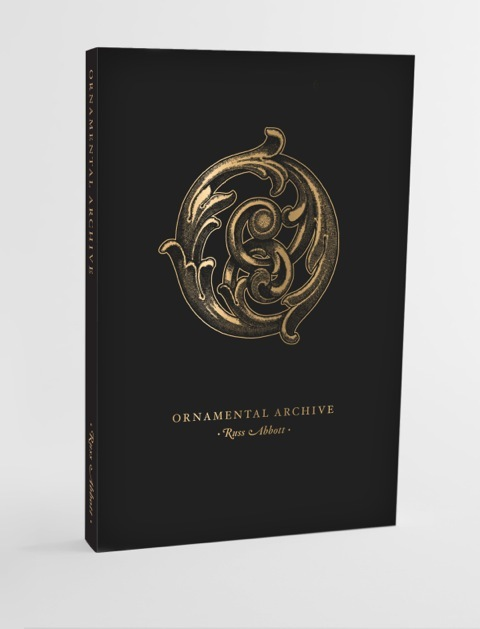 """Ornamental Archive"" mock up book cover"
