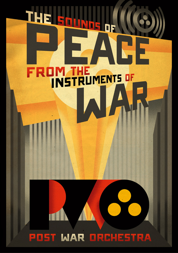Post War Orchestra Poster (Paul Sizer, artist/designer) - Digitally signed by the Artist and Musicians