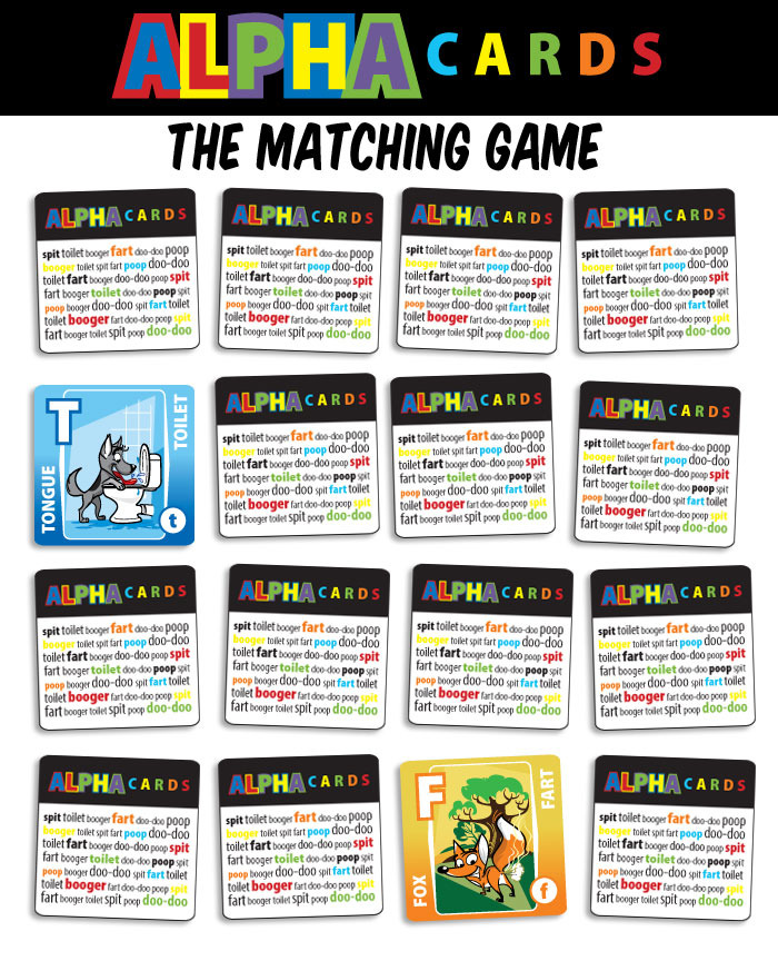 "Alpha Cards: The Matching Game (2"" x 2"" game pieces)"