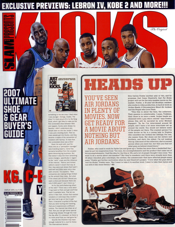 Kicks/ Slam Magazine interview