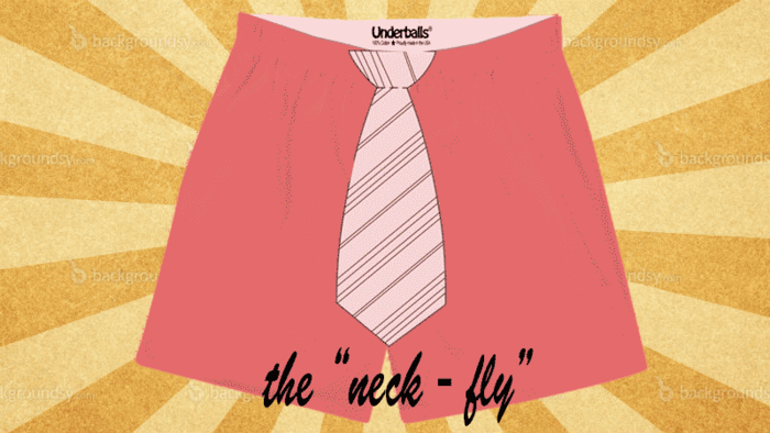"The ""Neck-Fly"" Sketch for First Edition of Underballs"