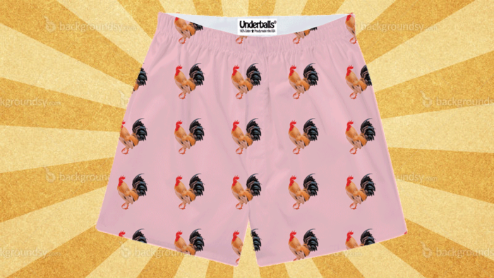 Rooster (Chickens) Underwear for First Edition Underballs