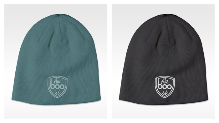 Aluboo beanie (mockup–actual product may differ slightly)