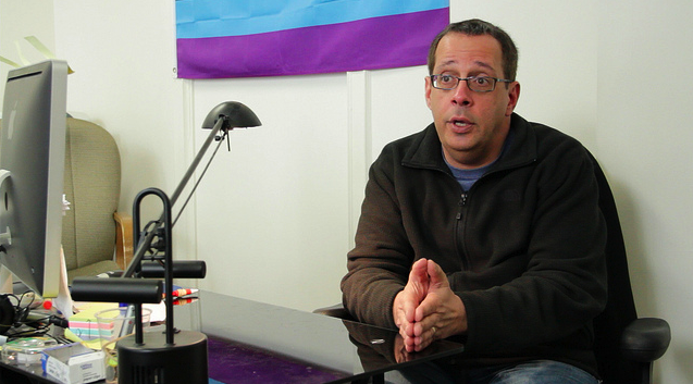Brad Becker runs the GLBT Hotline out of San Francisco, helping to connect people with local resources and provide peer counseling.