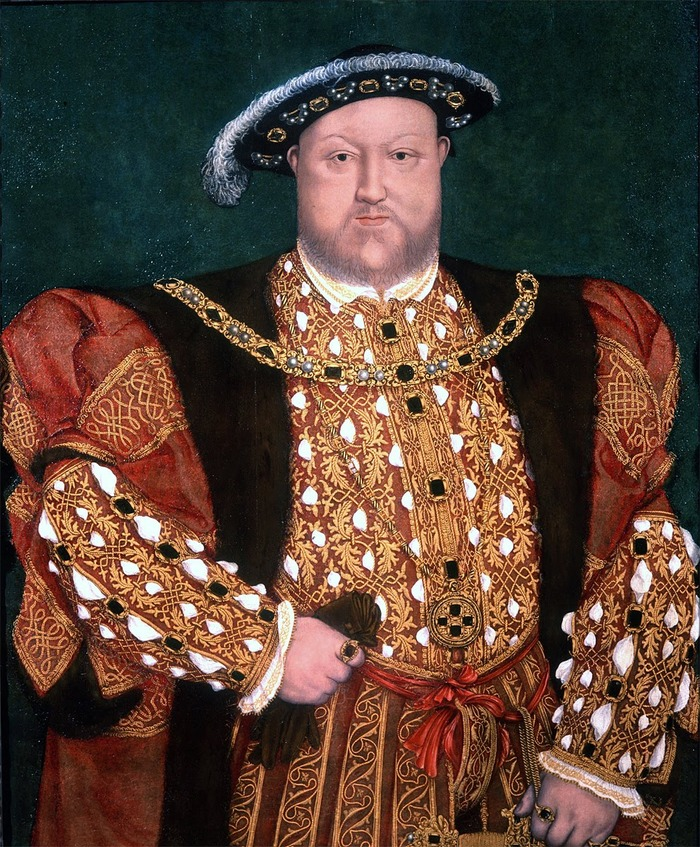 Henry VIII sporting a fine set of square gem buttons