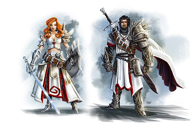 Early concept of the two main heroes