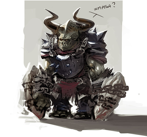 Concept Art of an Orc Warrior.
