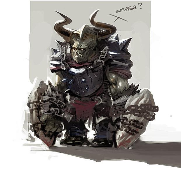 Concept Art of an Orc Warrior.