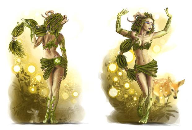 Concept art of Astarte, spirit of the Source