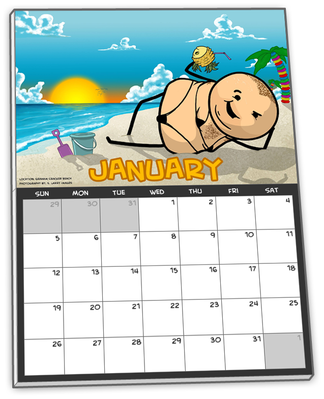 All tiers $100 and above include an autographed Cyanide & Happiness Sexy Swimsuit Calendar!