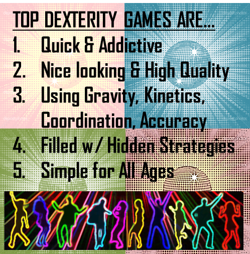Review of Top Dexterity Games on Board Game Geeks!