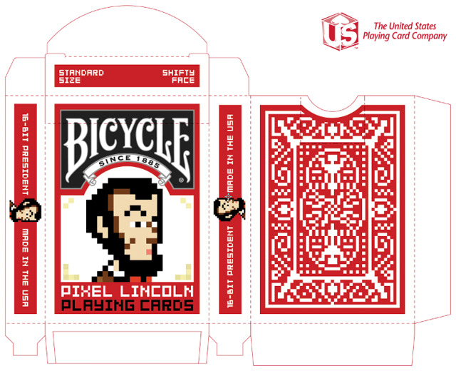 pixel lincoln bicycle playing cards by game salute kickstarter. Black Bedroom Furniture Sets. Home Design Ideas