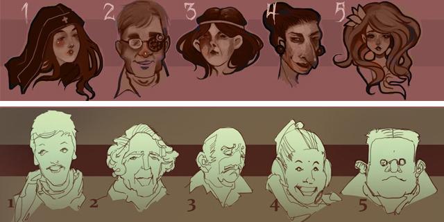 NPC concept sketches.