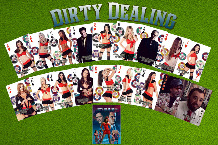 """Dirty Dealing"" casino quality playing cards"