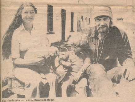 Lesley, Daniel and Roger Hambrook in an Irish Newspaper.