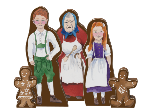 The dolls from Hansel and Gretel - they look just like the illustrations in the Hansel and Gretel book and they stand on their own