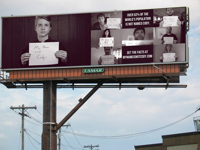 Just think - YOUR FACE could be on this billboard.