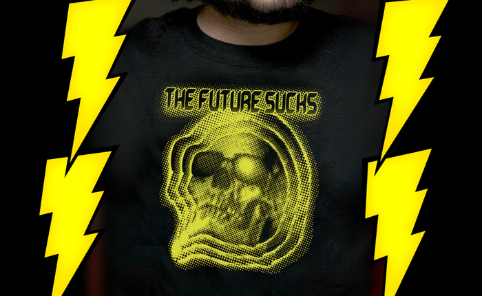 Exclusive T for $50+ backers. (Lightning bolts not included.)
