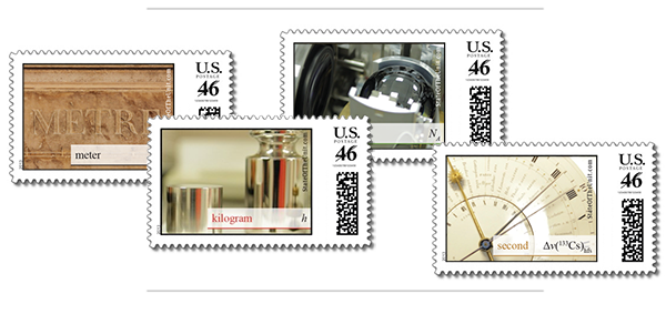 Some of the postage stamps we're making to commemorate the New SI