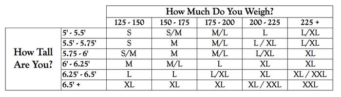 Handy Dandy Size Chart