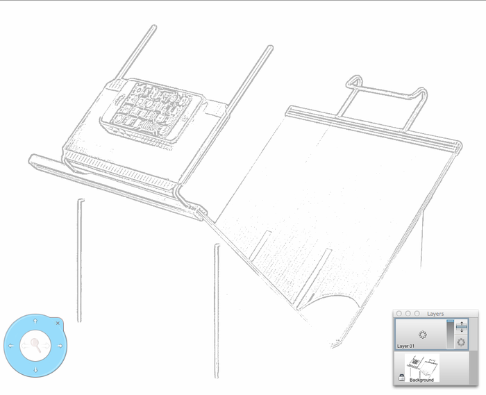 Use Fopydo option H - create line drawings from images. Then take the image to your drawing tool - like SketchBook shown here. Place the image in the Background layer and create a new layer for tracing