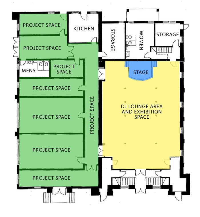 1st Floor Layout @ BLIND WHINO: SW Arts Club