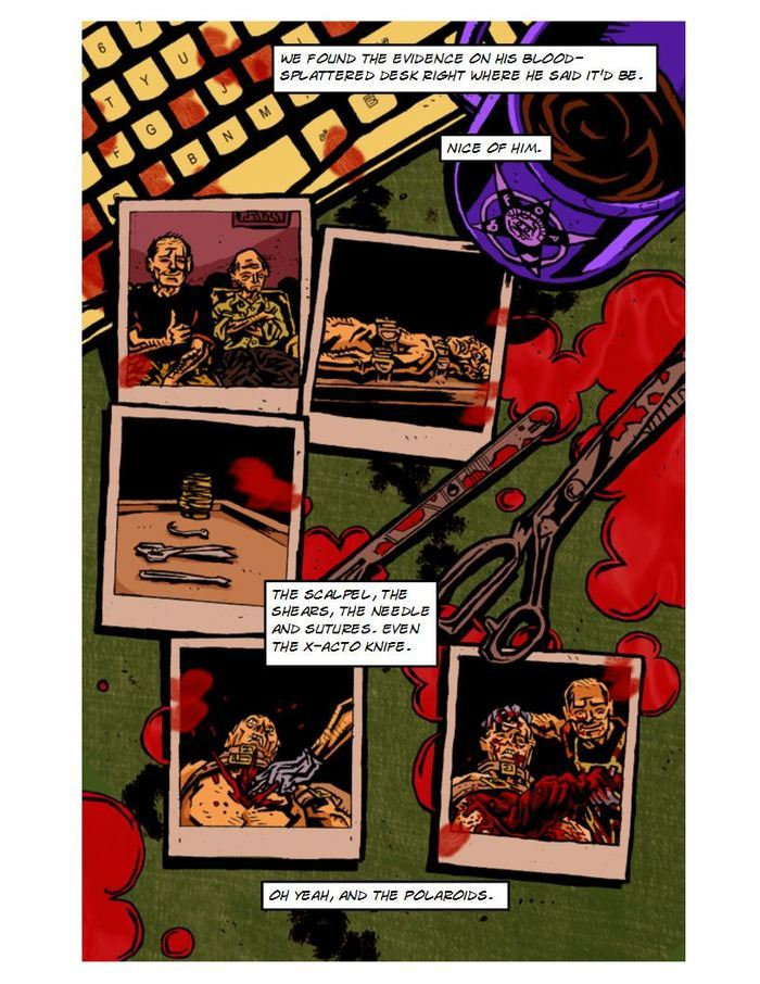 """Polaroids"" by horror legend Jack Ketchum. Adapted by accomplished writer David C. Hayes, pencilled by the brilliant Kurt Belcher, inked and colored by rising star Mike Gallagher."