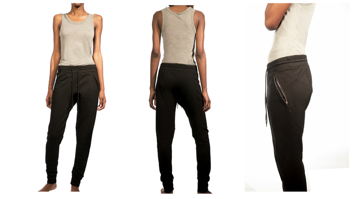 Women's Lean Urban Pant $99. A super comfortable pant for women that is chic and hip as well. The French terry I choose is super soft, and the zipper pocket details add a cool urban edge. A versatile and flattering pant that you'll not want to take off.