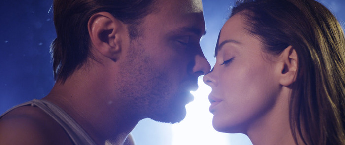 "John Patrick Fleuger and Rose McGowan in ""The Tell Tale Heart"""